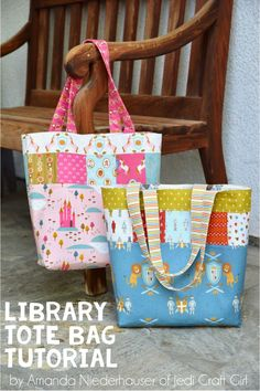 82370591444d Super cute kid s lined tote bag tutorial from Freshly Handmade ...