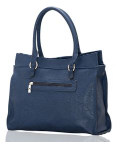 Navy Blue Studded Tote