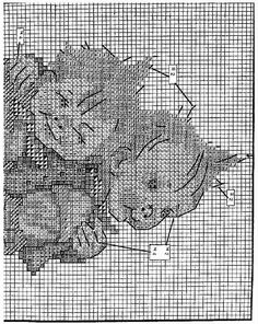 """""""Max and Moritz"""" Hummel cross stitch  -  pattern 1A"""