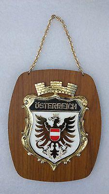 Austrian Coat of Arms Shield Hanging Wall Plaque Austria~ Oesterreich Souvenir in Collectibles, Souvenirs & Travel Memorabilia, International | eBay