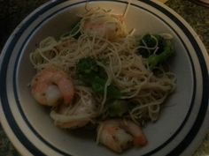 Take saute express garlic n herb,1bag of broccoli, saute add a Tbs butter n 1Tbsp chop garlic stir cover for 5-7 mins add shrimp cover  for 4-6 minutes.  Stir and enjoy