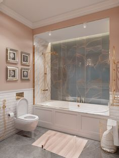 Small Interiors Under 70 Sqm That Will Have You Tickled Pink! [With Plans] - Decorasium Room Design Bedroom, Home Room Design, Dream Home Design, Home Interior Design, House Design, Bathroom Design Luxury, Dream Bathrooms, Gray And White Bathroom, House Rooms
