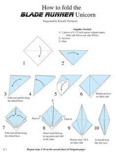 How To Fold The Blade Runner Unicorn PhilipKDick Bladerunner Origami