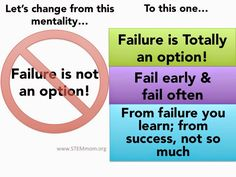 Failure is Totally an Option: STEMmom shares how we need to encourage kids to take risks, and it starts with the message we give them about failure!