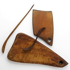 Wharton Esherick; Carved Wooden Kitchen Implements, 1940s.