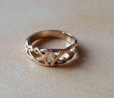 anillo celta oro  375  celta  anillo de por BGJewelleryDesigns