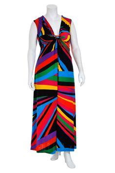 Rainbow Twist Knot Maxi Dress - so many colors!