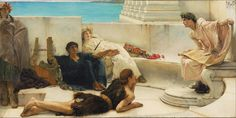"""A reading from Homer"" by Lawrence Alma-Tadema"