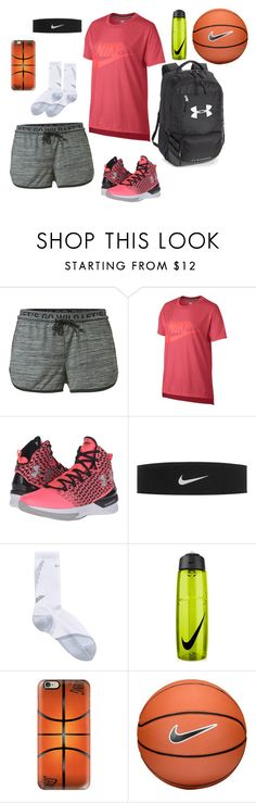 """""""Basketball"""" by joburwell ❤ liked on Polyvore featuring MANGO, NIKE, Under Armour and Casetify"""