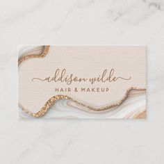 Makeup Business Cards, Salon Business Cards, Elegant Business Cards, Business Thank You Cards, Gold Business Card, Branding Design, Logo Design, Design Design, Design Layouts