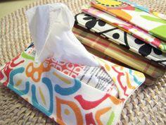 Tissue Holder Case Pocket Small Travel by TogetherThreads on Etsy, $1.99