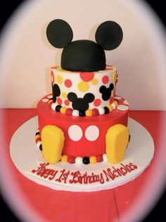 Mickey Mouse cake made by Michael Angelo's bakery in Broadview Hts