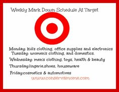 Days Target Marks down their items.