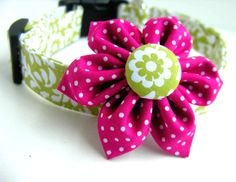 SWEET LORALIE Collar and matching bow set
