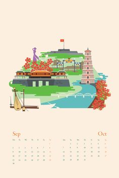 Vietnam 1735 km Calendar by Tu Bui - Hue