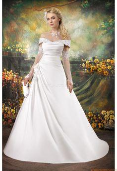 Wunderschönes Brautkleider Online 2013 aus Satin mit Spitze
