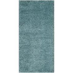 Safavieh Milan Shag Aqua Blue Rectangular Indoor Throw Rug (Common: 2 X 4; Actual: 2-Ft W X 4-Ft L) Sg180-6060-24