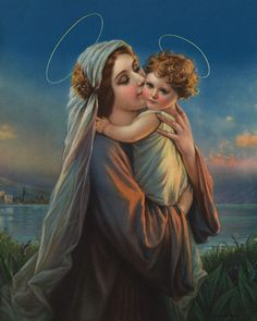 Our Lady and Baby Jesus | Virgin Mary Holding Baby Jesus --- Image by © Blue Lantern Studio/Corbis