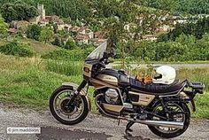 Moto Guzzi SP1000 (1979) (Mine)  This is a standard non modified SP1000 or Spada in the UK.  Excellent long distance tourer. The return journey to where this photo was taken is about 3500 km