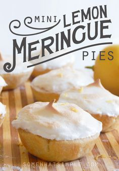 EASY Mini Lemon Meringue Pies on SomewhatSimple.com