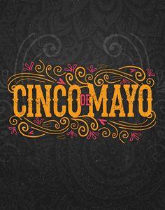 Poster look for a Cinco De Mayo party. Logo Mexicano, Bar Mexicano, Food Logo Design, Logo Food, Typography Design, Mexican Fonts, Mexican Art, Promo Flyer, Mexican Designs
