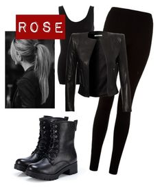 """""Rose"" Vampire Academy look!"" by laurafilbyy4 ❤ liked on Polyvore featuring DAY Birger et Mikkelsen and Exull"