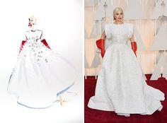 Художник нарисовал ватной палочкой платья церемонии Оскар 2015 | Lookbuck