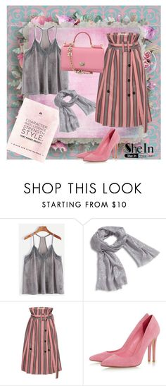 """Gray lace top & pink"" by subvilli ❤ liked on Polyvore featuring Vera Bradley, Marni and Dolce&Gabbana"