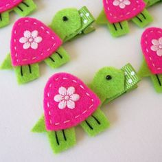 turtle hair clips! match shells?