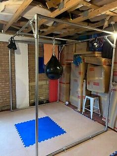 Bbq Area Garden, Arden House, Crossfit Garage Gym, Heavy Bag Stand, Dream Home Gym, Gym Setup, Human Flag, Boxing Punches, Boxing Gym