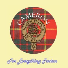 For Everything Genealogy - Clan Cameron Clan Crest Tartan Cork Round Coasters Set of 2, $12.00 (http://foreverythinggenealogy.mybigcommerce.com/clan-cameron-clan-crest-tartan-cork-round-coasters-set-of-2/)
