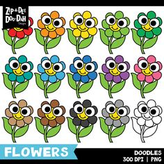 Browse clip art resources on Teachers Pay Teachers, a marketplace trusted by millions of teachers for original educational resources. Cute Clipart, Flower Clipart, Free Clipart Images, Flower Doodles, Doodle Flowers, Teachers Pay Teachers Free, Free Doodles, Create Font, Classroom Themes