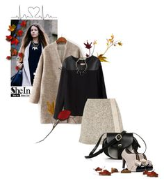 """""""Black Blouse - SHEIN Contest"""" by annette-heathen ❤ liked on Polyvore featuring See by Chloé, autumn and shein"""