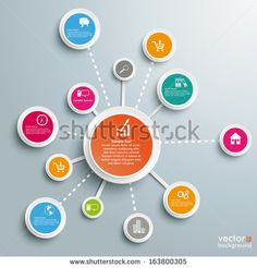 Infographic Design On Grey Background Eps Stock Vector (Royalty Free) 163800305 Powerpoint Icon, Powerpoint Design Templates, Scientific Poster Design, Circle Diagram, Free Vector Graphics, Vector File, Adobe Illustrator Tutorials, Dashboard Design, Chart Design