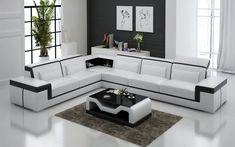 Sofa Bed Living Room, Living Room Sofa Design, Living Room Sets, Living Room Designs, Leather Couch Sectional, Modern Sectional, Modern Sofa, Couch Sofa, L Shaped Sofa Designs