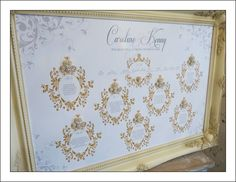 Gold and cream seating plan by Deannamic Designs