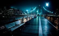 El Puente De Brooklyn, Nueva York (EE.UU)  #night #brooklyn #increiblesparaisos