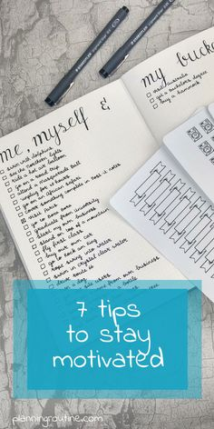 7 tips to stay motivated with your bullet journal