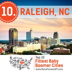 Congratulations to Raleigh! The city has been named #10 on the list of Fittest Baby Boomer Cities in America. Raleigh achieved both a lifestyle score and health and fitness score above the 70th percentile, proving itself one of the best cities for healthy, active older adults. Here are some important facts the research discovered about the City of Oaks