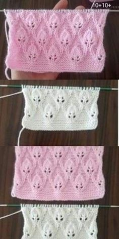 Framed Tiny Leaves Weave Model Making – çerçeveli minik kalpler Lace Knitting Patterns, Knitting Stiches, Easy Knitting, Knitting Designs, Stitch Patterns, Baby Patterns, Knitting Accessories, Framed Leaves, Crocodile Tears