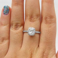 1.50 CT E/SI1 Cushion Cut Diamond Engagement Ring by Brillianteers $1,629