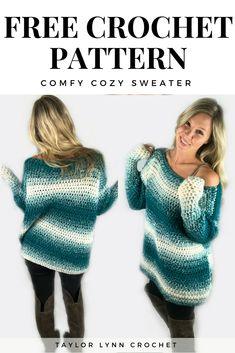 sweater, sweater pattern, crochet sweater, crochet sweater pattern, taylor lynn crochet Source by crochetpreneur muster Crochet Cardigan Pattern, Crochet Shirt, Crochet Jacket, Black Crochet Dress, Crochet Patterns, Crochet Sweaters, Moda Crochet, Cute Crochet, Crochet Tops