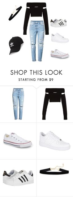 """Style Casual"" by sheilahudsonx on Polyvore featuring McQ by Alexander McQueen, Converse, NIKE, adidas and adidas Originals"