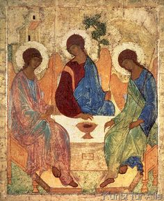 Andrei Rublev - The Holy Trinity, 1420s