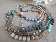 Bohemian Gypsy Colorful Multi Stone Long 26 by funkyouaccessories
