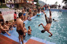 https://flic.kr/p/8fVYxx   Swimming pool - Bhagsu, India   Bhagsu village above Mcleod Ganj, India  www.maciejdakowicz.com