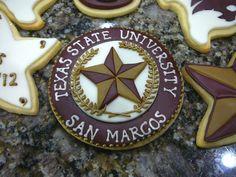 Texas State University Cookies - Cake Doctor, LLC
