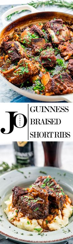 These melt-in-your-mouth Guinness Braised Short Ribs are hearty, super comforting and incredibly delicious, slowly cooked in stout, beef broth and lots of fresh herbs.