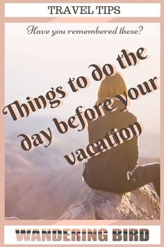 Things to do the day