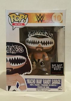 Funko Pop CUSTOM MACHO MAN WWE WWF Randy Savage NWO Madness Black One Of A Kind